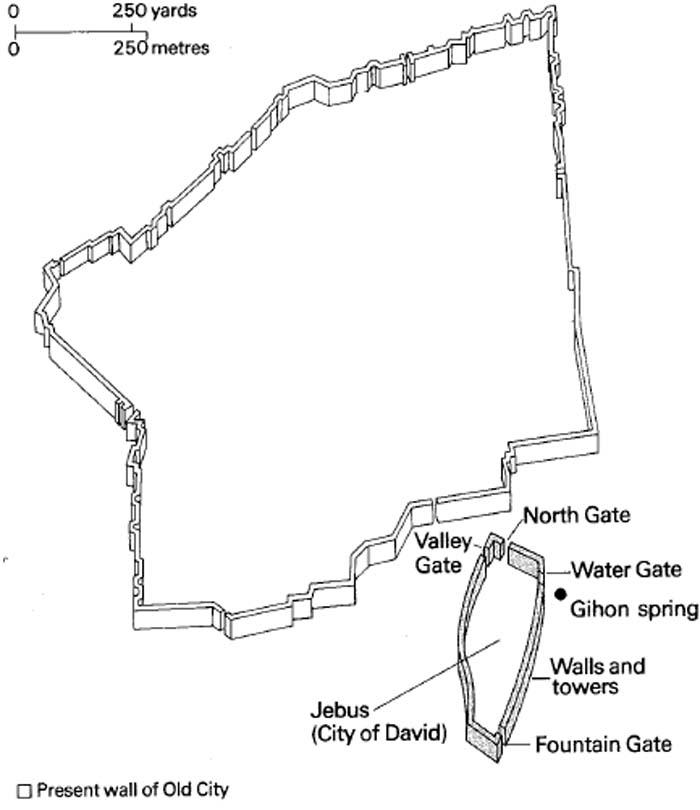 Maps Jerusalem : Great maps of Jerusalem at the time of