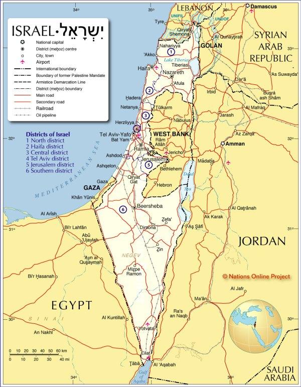 Jerusalem Tours Israel Maps