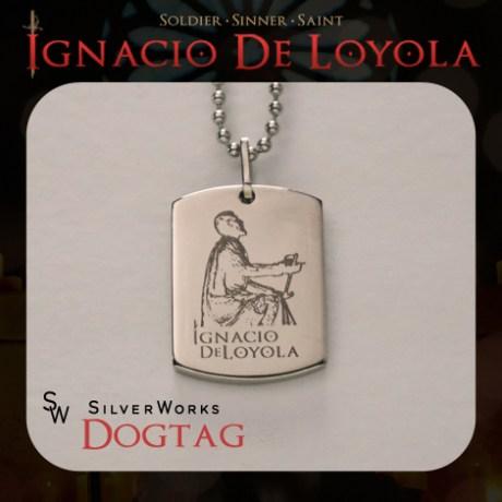 SilverWorks Kneeling St. Ignatius Dog Tag