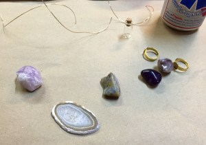 The jewelry making - materials (before).