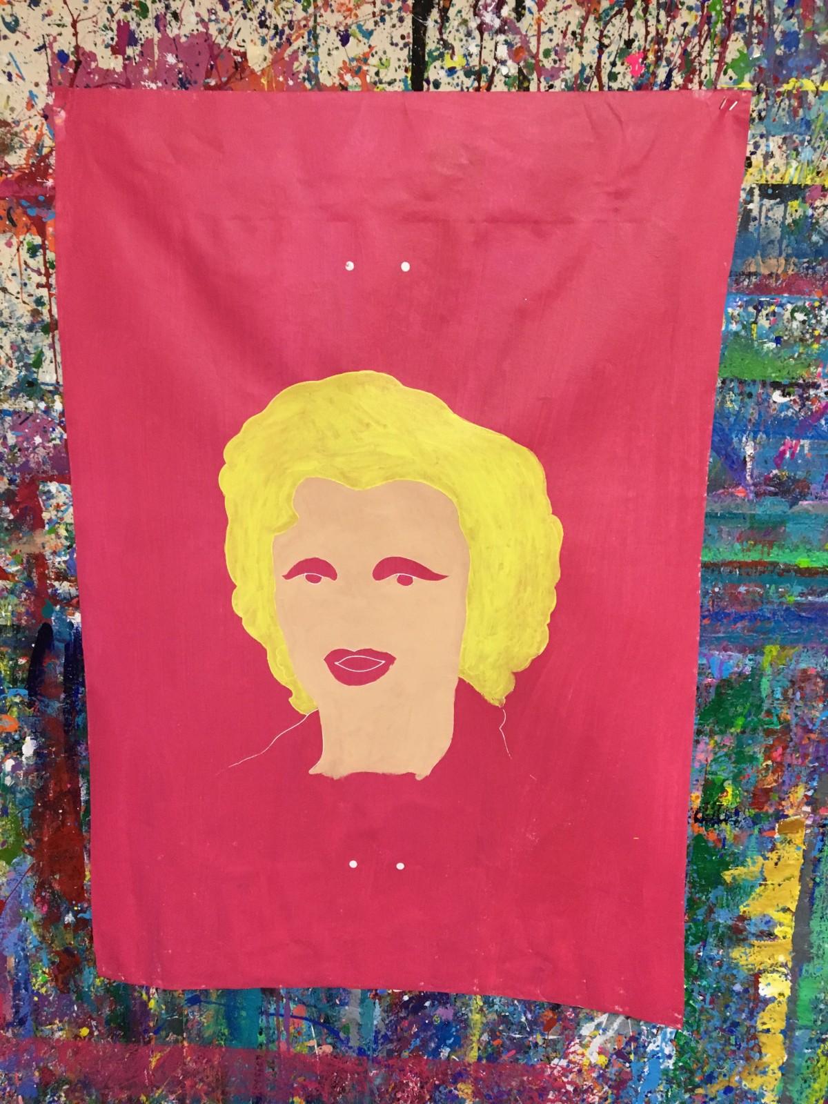 Marilyn Monroe Silkscreen - Warhol style - outline