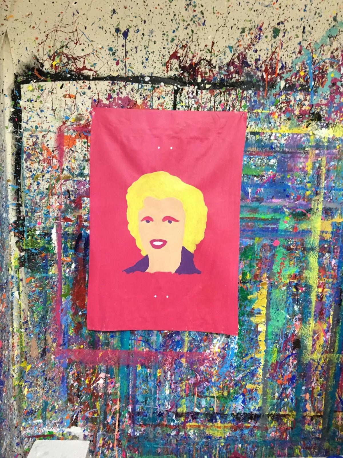 Marilyn Monroe Silkscreen - in progress