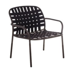 Lounge Outdoor Chairs Convertible Chair Emu 503 Yard Stacking Indoor Woven Elastic Straps Seat