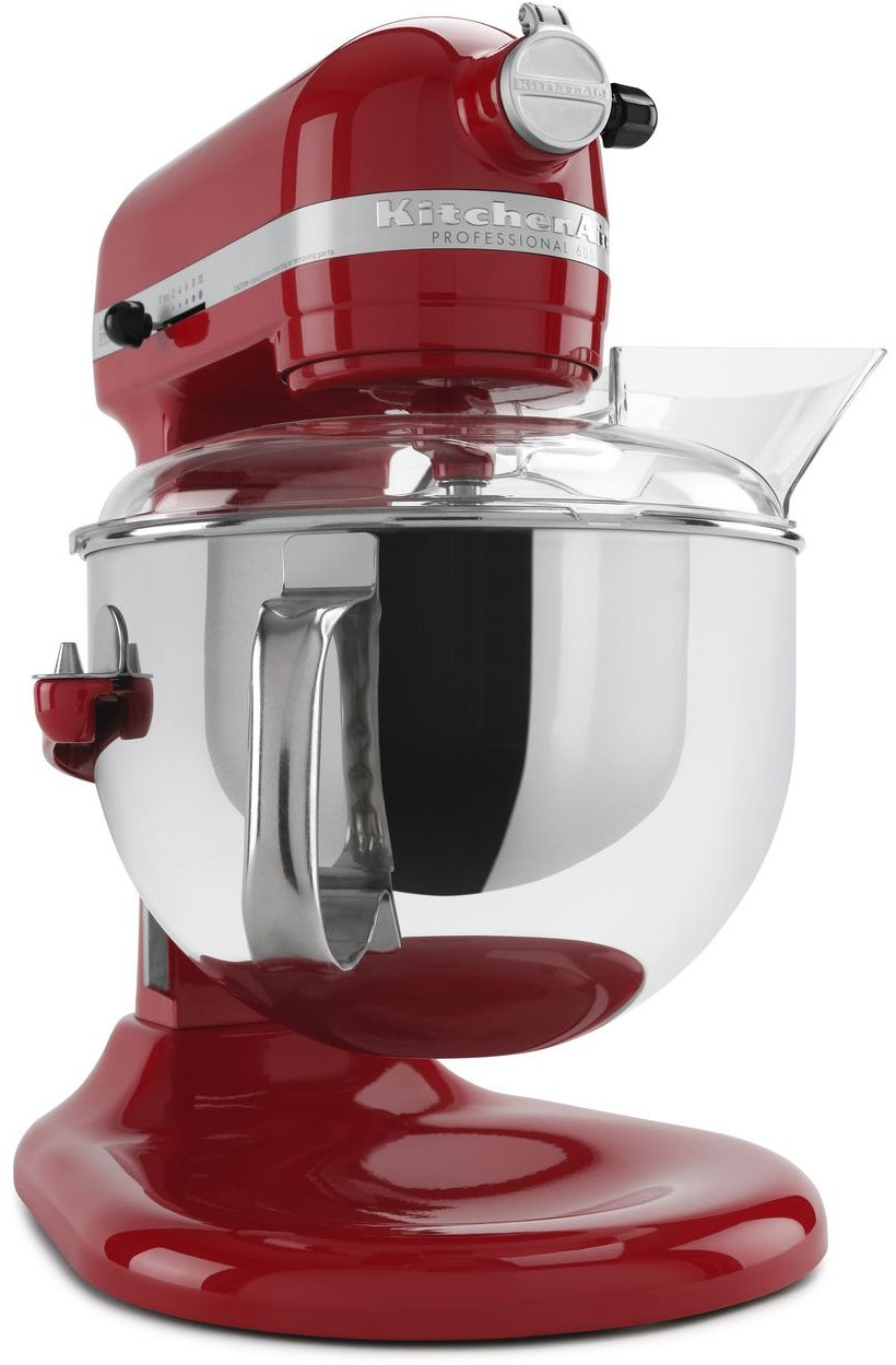 kitchen aid professional 600 television kitchenaid kp26m1xer - 6 qt. w/ pouring shield engine red