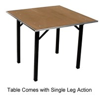 Maywood DPORIG42SQ - Folding Table, 42 inch square x 30 inch
