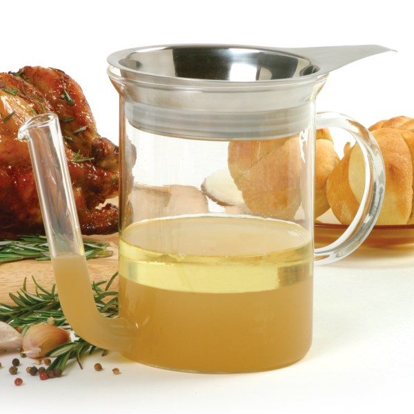 Norpro 3022 - Glass Gravy Separator Withstrainer 4 Cup Capacity