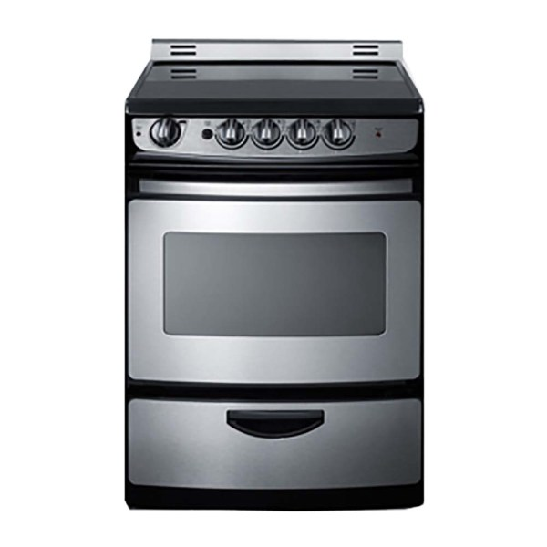 24 Inch Electric Range Stainless Steel