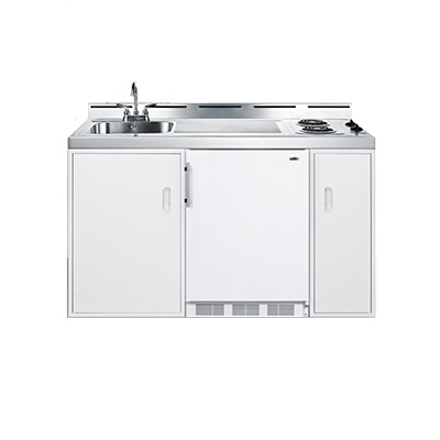 summit c60el all in one combo kitchen 61 l one piece stainless steel top with deep drawn sink