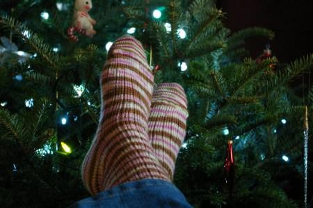 "CSM Socks: Christmas 2009 Lorna's Laces ""Sugarplum"""