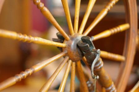 Crank and wheel