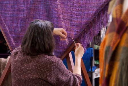 Weaving - adding the fringe