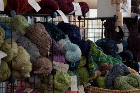 Yarn in the Sliver Moon Farm Booth