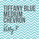 Medium Tiffany Blue chevron