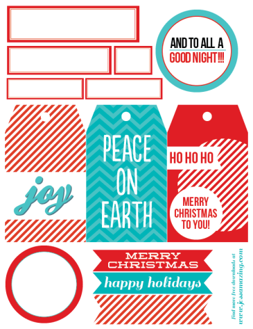 Peppermint holiday tags