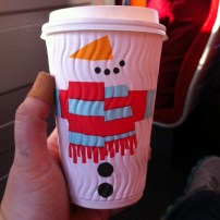 Adorable holiday cups from Costa Coffee