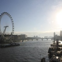 The London Eye and more from atop the Millenium Bridge