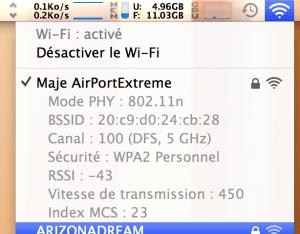 AirPort Extreme : Vitesse de transmission à 450Mbps