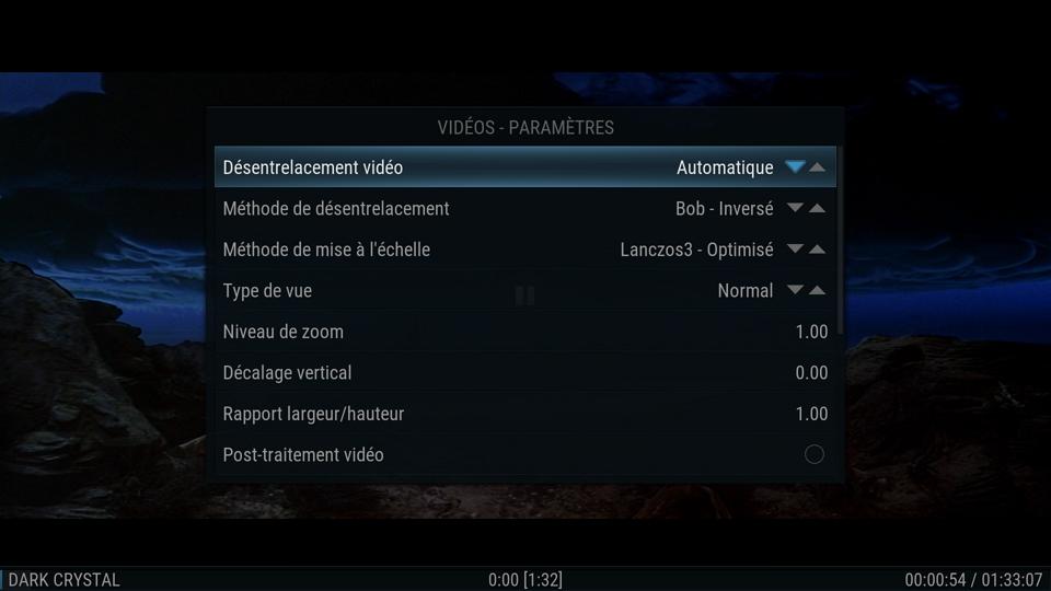 SPMC, configuration vidéo spécifique au nVidia Shield TV