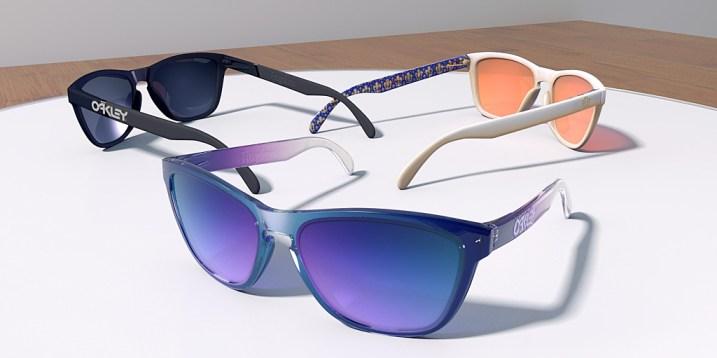Oakley Frogskin Style Glasses Clear Acrylic