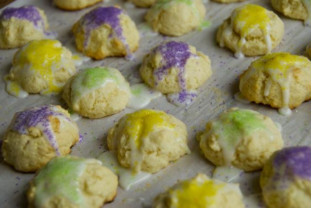 Mini King Cake Cookies