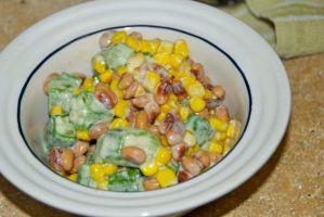 Okra, Corn and Black Eyed Pea Salad