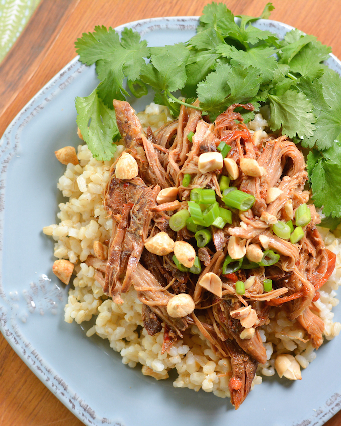 Crock Pot Thai Peanut Pork