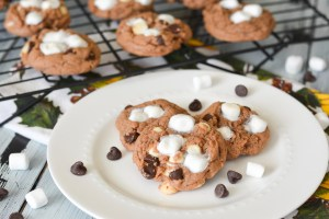 Marshmallows, semi-sweet and white chocolate chips stud these perfectly chewy cookies that have hot cocoa mix baked right into the dough. Add them to your Christmas baking list!