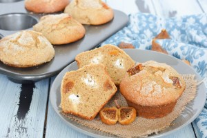 These big, fluffy muffins are studded with sweet dried figs and stuffed with a lemon and honey goat cheese filling. They are the perfect combination of sweet and savory!