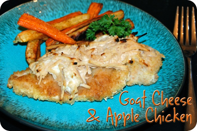 Goat Cheese and Apple Chicken