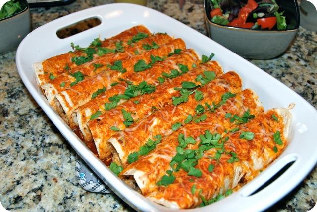 Black Bean and Quinoa Enchiladas