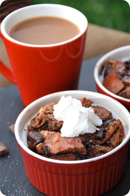 Creamy Mocha Latte Bread Pudding