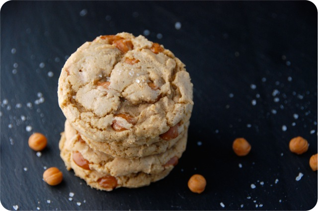 Salted Caramel Browned Butter Cookies