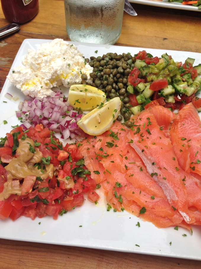 Lox Plate at Kreation Kafe, Santa Monica, CA