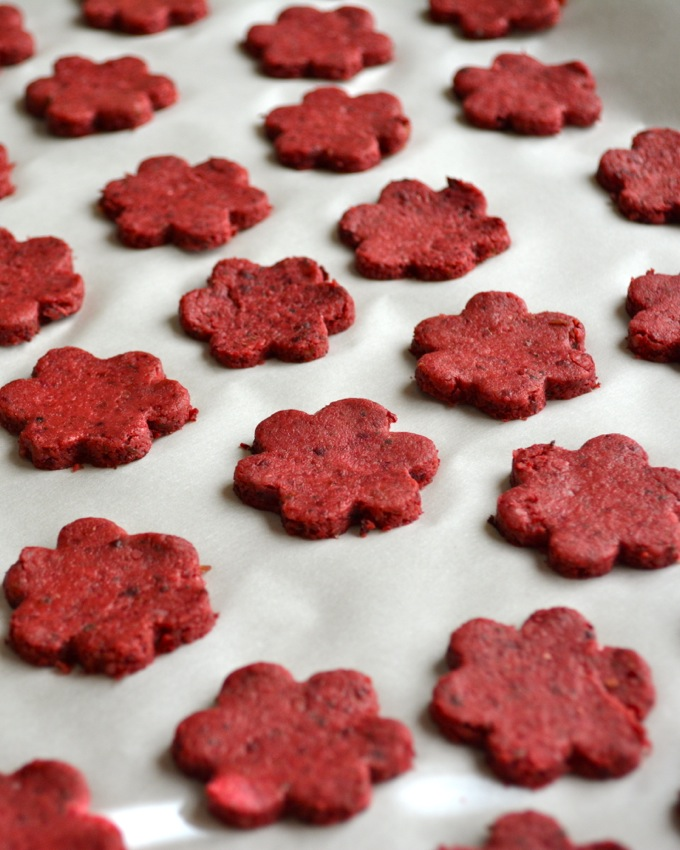 Roasted Beet and Sage Crackers