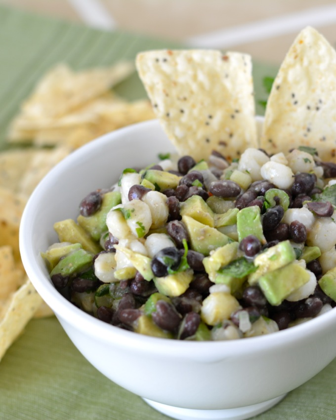 Black Bean and Hominy Dip