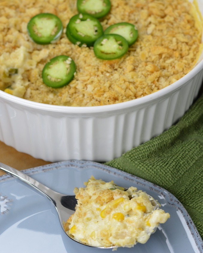 Jalapeno Scalloped Corn Casserole