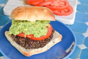 Quinoa and Black Bean Veggie Burgers