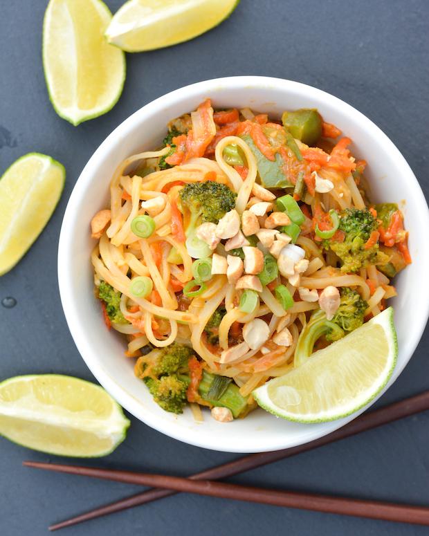 Veggie-Packed Peanut Noodles