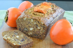 Bourbon Walnut Persimmon Bread