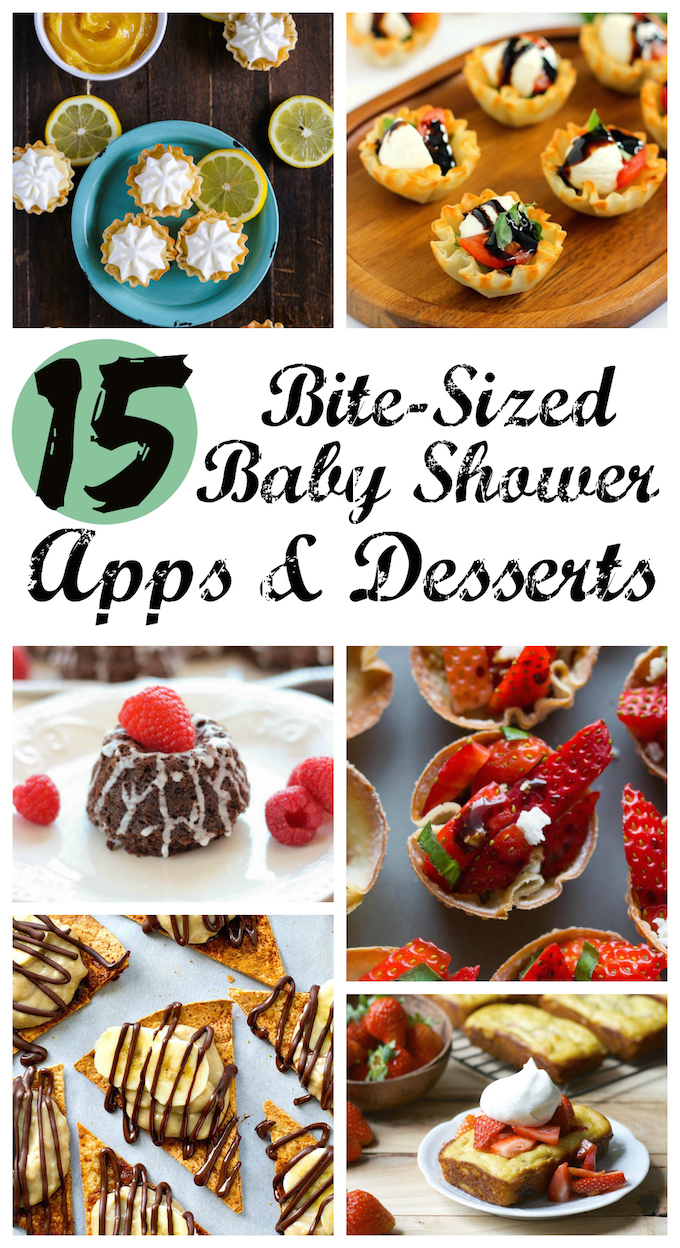 15 Bite-Sized Baby Shower Appetizers and Desserts