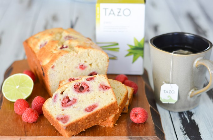 This Raspberry Lime Loaf is the perfect sweet and tangy treat to pair with a cup of tea for a little daily zen. It's packed with fresh berries, lime zest and tons of great flavor!