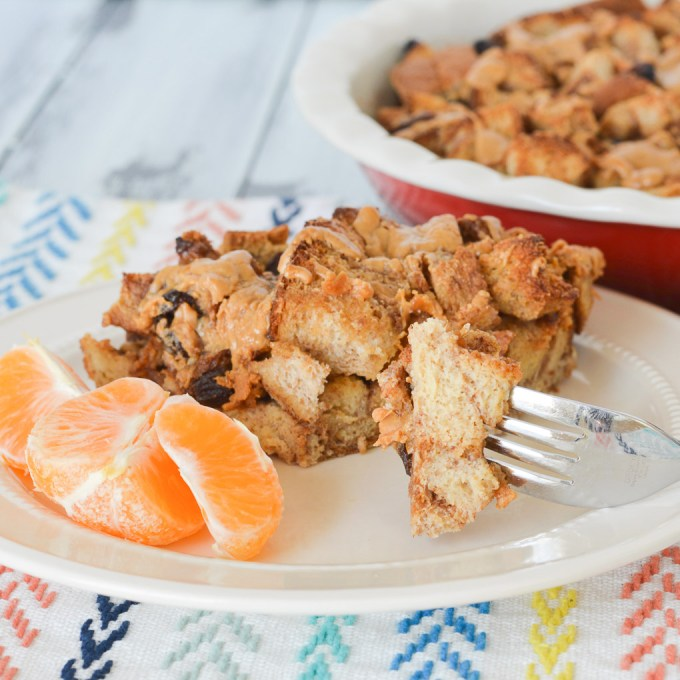This Peanut Butter French Toast Casserole is a yummy make-ahead breakfast your kids will love, and is a great way to use up leftover sandwich crusts or bread ends!