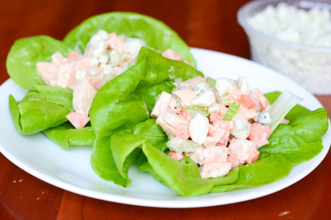Buffalo Chicken Salad Lettuce Wraps Recipe