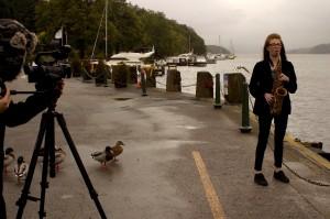 Jess being filmed