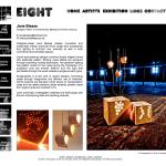 EIGHT Exhibition website screen shoot