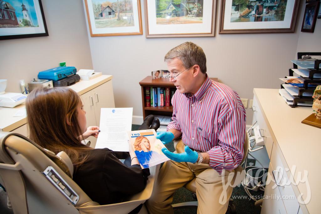 Atlanta Dentist Photographer Jessica Lily with Dr. David G Jones