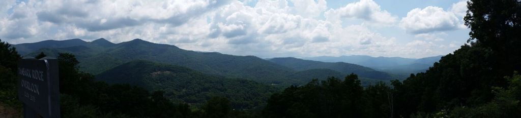 Vacation in Asheville, NC. View from Blue Ridge Parkway