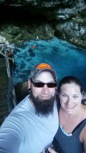 Hoyo Azul selfie