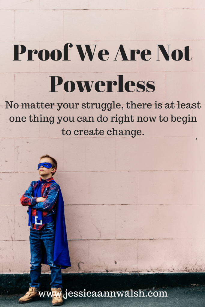 Proof we are not powerless. #motivation
