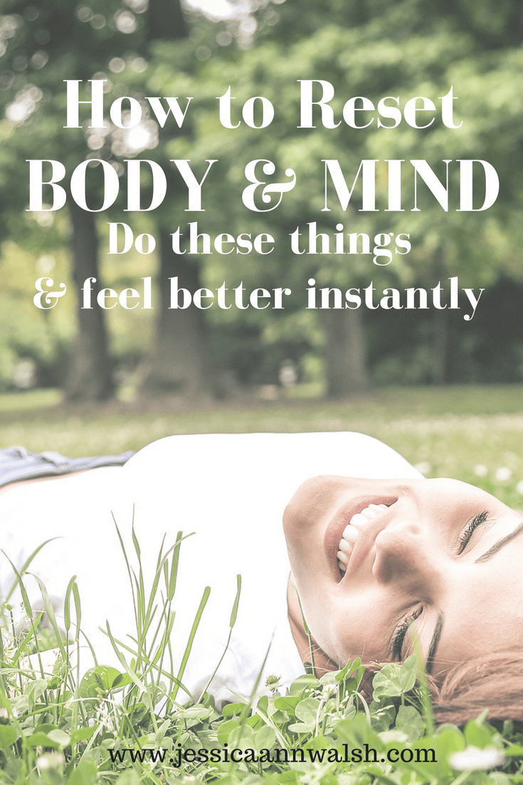 In need of a reset? Me, too! These are the seven things I do when in need of a body and mind reset that have me feeling better in no time.